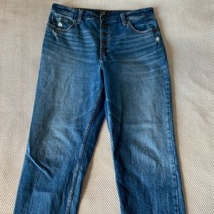 Abercrombie & Fitch High Rise Ankle Straight Jean